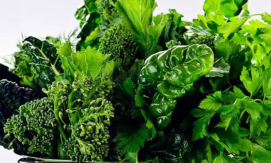 อาหารที่ไขมันต่ำ-ผักใบเขียว
