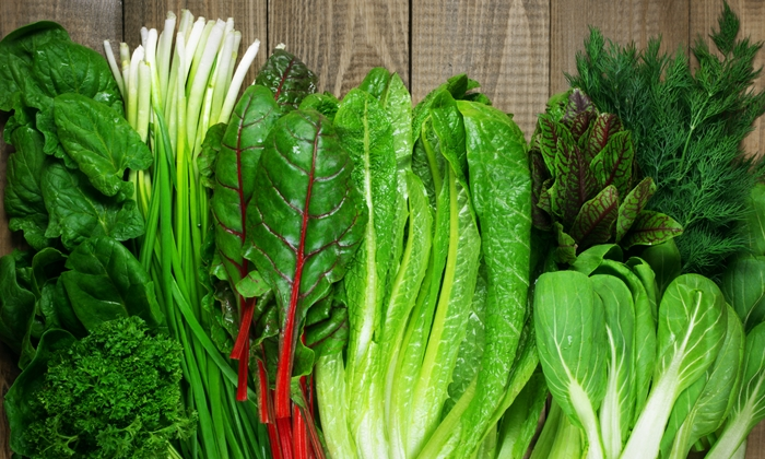 อาหารชะลอวัย -ผักใบเขียว ๆ สด ๆ