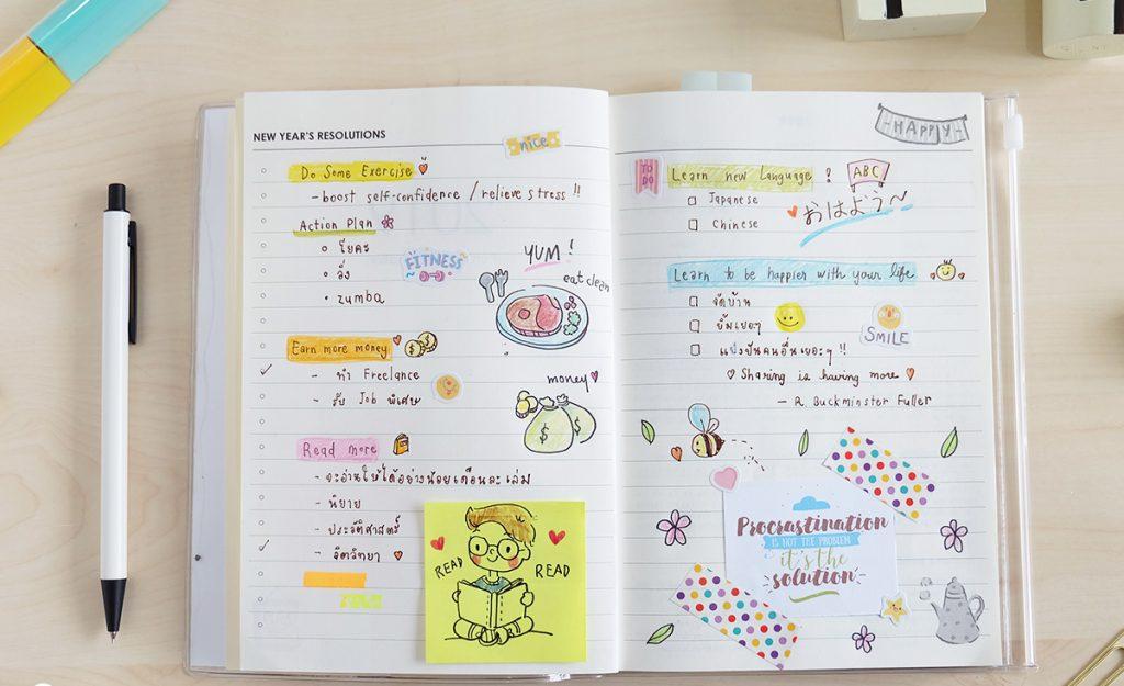 วิธีการเสริมสุขภาพใจ- การเขียนไดอารี่